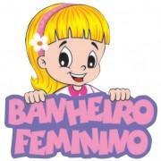 VOLTA AS AULAS BANHEIRO FEMININO  46x45CM