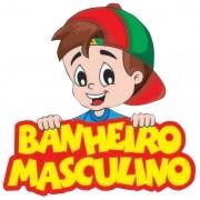 VOLTA AS AULAS BANHEIRO MASCULINO 50x51CM