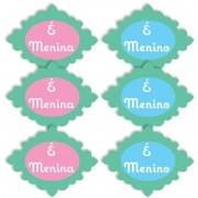 BABY MICRO MENINO E MENINA PROVENÇAL COM 6 UNIDADES   8,0X6,0