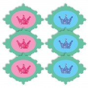 MICRO COROAS PROVENÇAL COM 6 UNIDADES    8,0X6,0CM