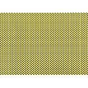 Placa de Bolinhas Grande de 6mm Preta Fundo Amarelo  40x60