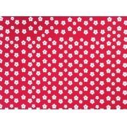 Placa Flor(2) Branca Fundo Vermelho  40x60cm