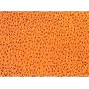 Placa Notas Musicais Pretas Fundo Laranja  40x60cm