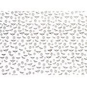 Placa Coruja Preta Fundo Branco 40x60cm