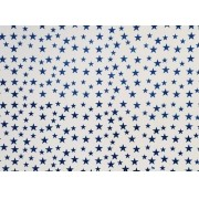 Placa Estrela Cheia Azul Fundo Branco 40x60cm