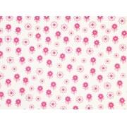 Placa Flor(6) Rosa Fundo Branco 40x60cm