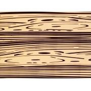 Placa Madeira Bege Detalhe Preto  40x60cm