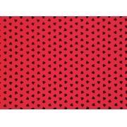 Placa Ratinho Preto Fundo Vermelho  40x60cm