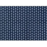 Placa Ancora Branca e Fundo Azul Marinho 40x60cm