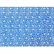 Placa Bebê Branco e Fundo Azul 40x60cm