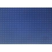 Placa Bolinha Media de 4mm Branca e Fundo Azul  40X60cm