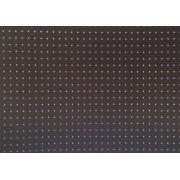 Placa Bolinha Media de 4mm Branca e Fundo Marrom 40x60cm