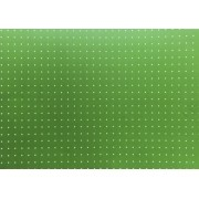 Placa Bolinha Media de 4mm Branca e Fundo Verde Cítrico 40x60cm