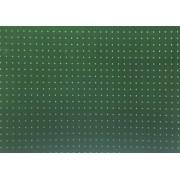 Placa Bolinha Media de 4mm Branca e Fundo Verde Bandeira  40X60