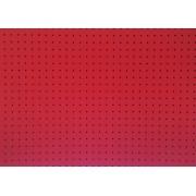 Placa Bolinha Media de 4mm Preta e Fundo Vermelho 40x60cm