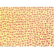 Placa Borboleta Rosa Fundo Amarelo 40x60cm