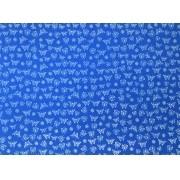 Placa Borboleta Branca Fundo Azul Royal 40x60cm