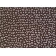Placa Borboleta Branca Fundo Marrom 40x60cm