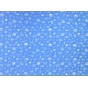 Placa Conchas Branca Fundo Azul BB  40x60cm