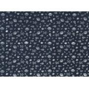 Placa Conchas Branca Fundo Azul Marinho 40x60cm