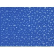 Placa Conchas Branco Fundo Azul Royal 40x60cm