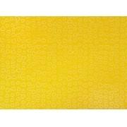 Placa Coração Branco Fundo Amarelo 40x60cm