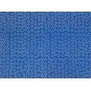 Placa Coração Branco Fundo Azul 40x60cm