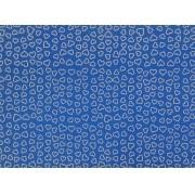 Placa Coração Prata Fundo Azul 40x60cm