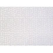Placa Coração Prata Fundo Branco 40x60cm