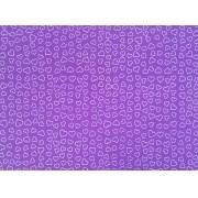 Placa Coração Branco Fundo Lilás 40x60cm