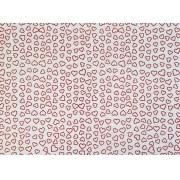 Placa Coração Vermelho Fundo Branco 40x60cm