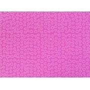 Placa Coração Branco Fundo Rosa 40x60cm