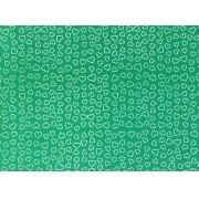 Placa Coração Branco Fundo Verde 40x60cm