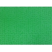 Placa Coração Braco Fundo Verde 40x60cm