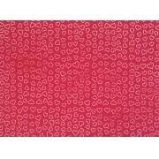 Placa Coração Branco Fundo Vermelho Escuro 40x60cm