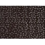 Placa Coruja Branca Fundo Marrom 40x60cm