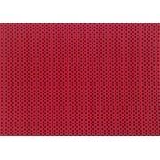 Placa de Bolinhas Grande de 6mm Preta Fundo Vermelho 40x60