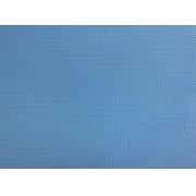 Placa de Bolinhas Pequena de 1mm Branca Fundo Azul Claro 40x60cm