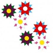 APLIQUE FLORES MODELO 3 COM 6 UNIDADES   3,5X3,5CM