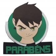 BEN 10 - PAINEL PARABENS ROSTO    58,0x64,0CM