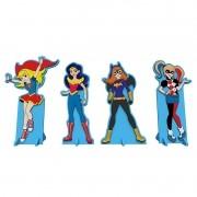 DC SUPER HERO GIRLS - ENFEITE DE MESA COM 4 UNIDADES