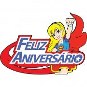 DC SUPER HERO GIRLS - FAIXA FELIZ ANIVERSARIO SUPERGIRL   70x49CM