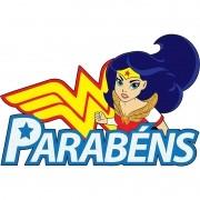 DC SUPER HERO GIRLS - FAIXA PARABÉNS MULHER MARAVILHA  70,0X46,0CM