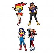 DC SUPER HERO GIRLS MICRO COM 4 UNIDADES   9,5x6,0CM