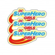 DC SUPER HERO GIRLS  MICRO LOGO COM 3 UNIDADES   8,0X3,5CM