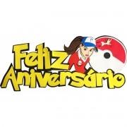GAME GO FAIXA FELIZ ANIVERSARIO MENINA   68,0X29,0CM