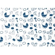 Placa Bebê Azul e Fundo Branco  40x60cm