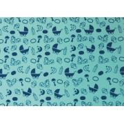 Placa Bebê Azul Royal e Fundo Azul BB 40x60cm