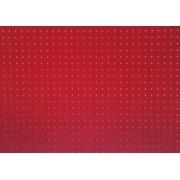 Placa Bolinha Media de 4mm branca e Fundo Vermelho 40x60cm