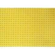Placa Bolinha Media de 4mm Amarelo e Fundo Preto 40x60cm